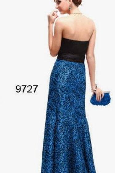 Modro čierne spoločenské šaty 9727 SKLADOM