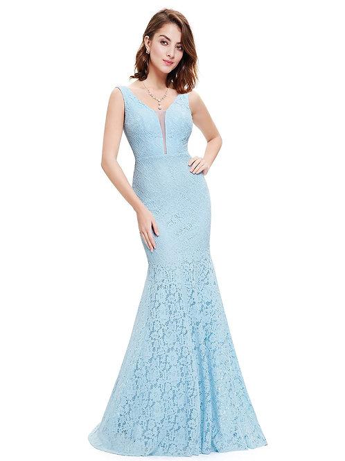 Modré šaty 8838 SKLADOM