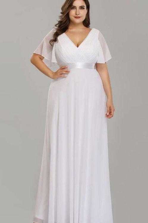 Biele Svadobné- Spoločenské  šaty  9890 SKLADOM