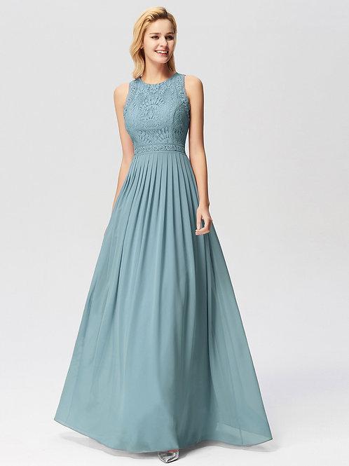Spoločenské šaty DUSTY BLUE 7391