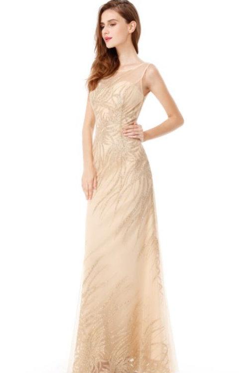 Zlaté spoločenské šaty 8929 SKLADOM