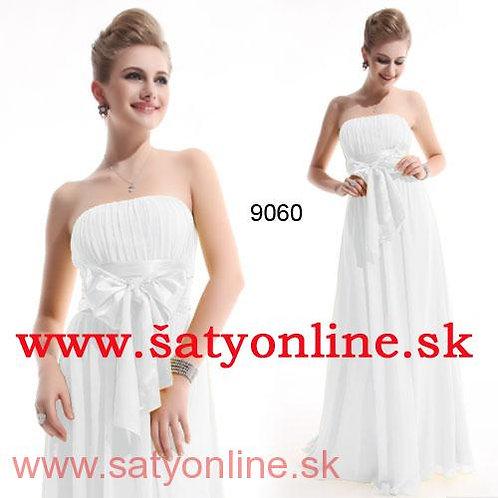 Biele spoločenské šaty 9060 SKLADOM