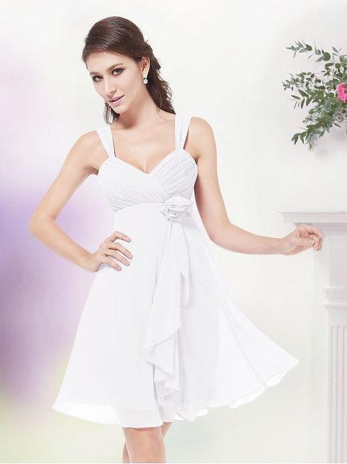 Biele krátke šaty 3266 SKLADOM