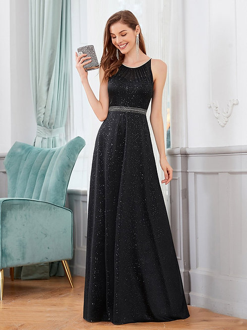 Čierne spoločenské šaty 0420