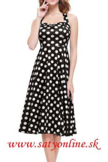 Bodkovane krátke šaty 5349 SKLADOM