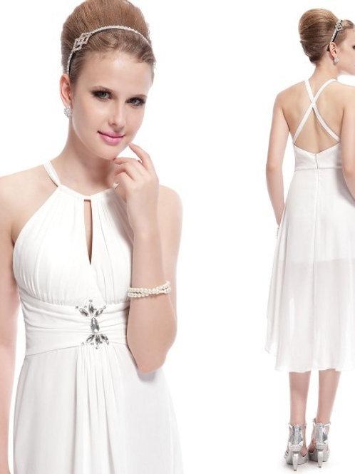 Biele kratke šaty 3643 SKLADOM