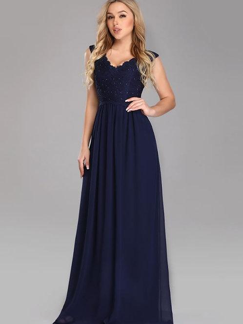 Tmavo modré šaty 7676