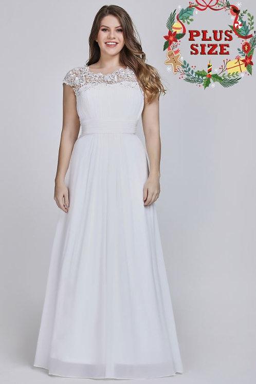 Biele spoločenské- svadobné šaty 9993 SKLADOM