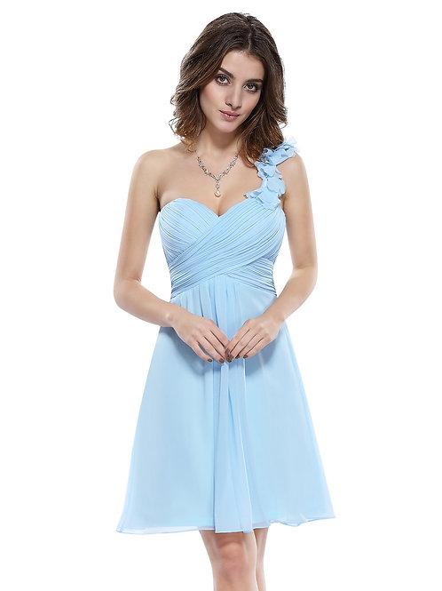 Modré krátke šaty 3535 SKLADOM