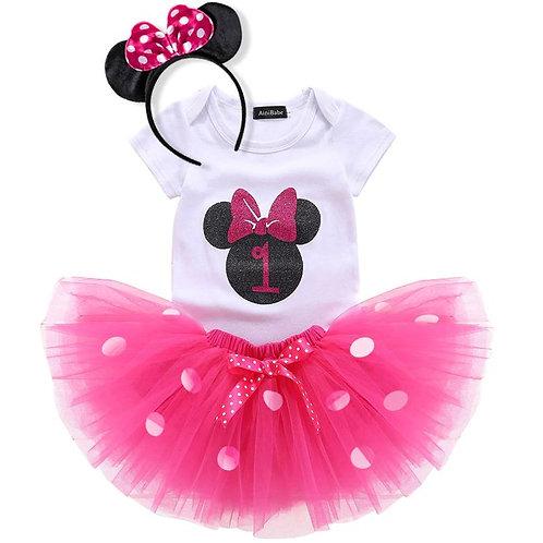 Hot Pink Birthday SET Minnie Mouse EM