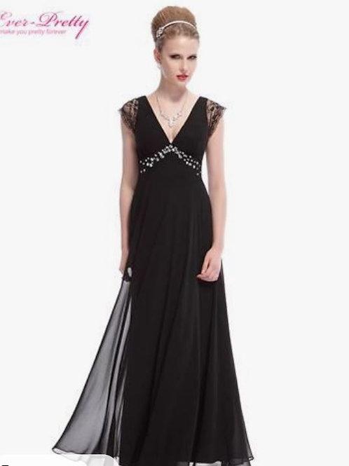 Čierne spoločenské šaty 8068 SKLADOM