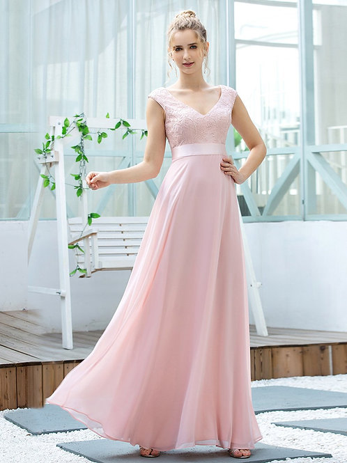 Ružové spoločenské šaty 0684
