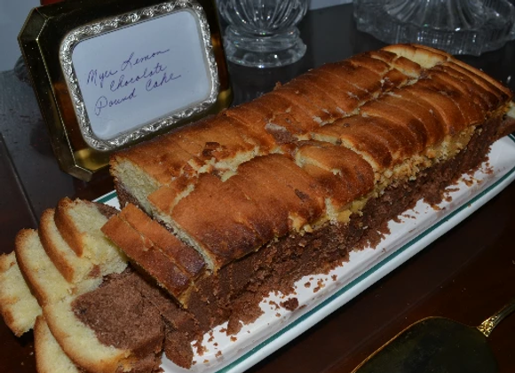Meyer Lemon Chocolate Pound Cake Loaf