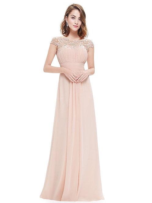 Blush krajkové Spoločenské  šaty 9993
