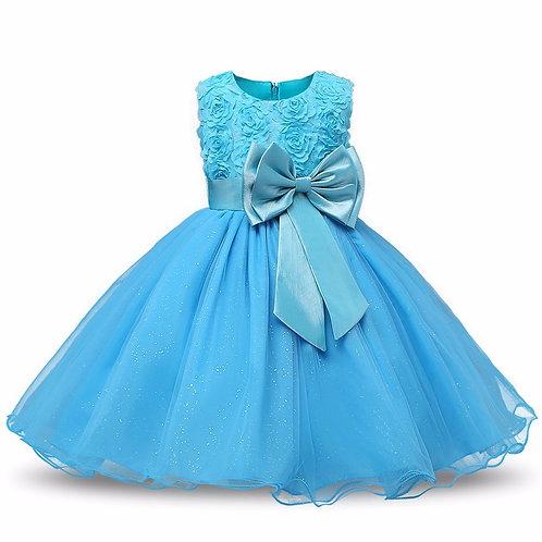 Tyrkysové dievčenské šaty FLOWER