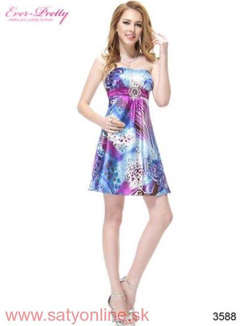 Vzorované šaty 3588 SKLADOM