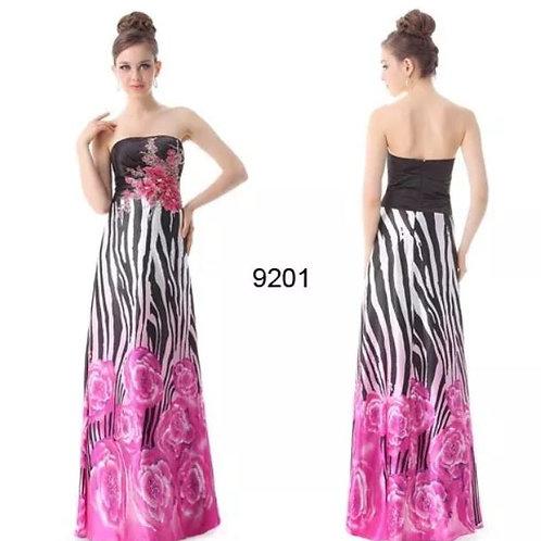 Vzorované šaty 9201 SKLADOM