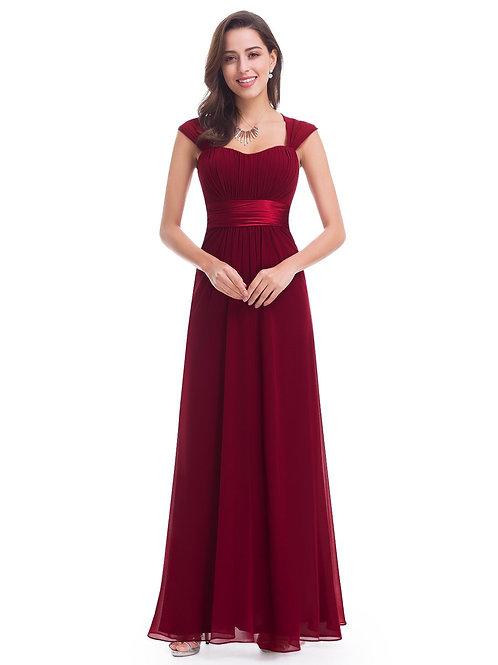 Bordové šaty 8834