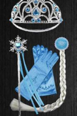 Elsa doplnky ku karnevalovému kostýmu modra