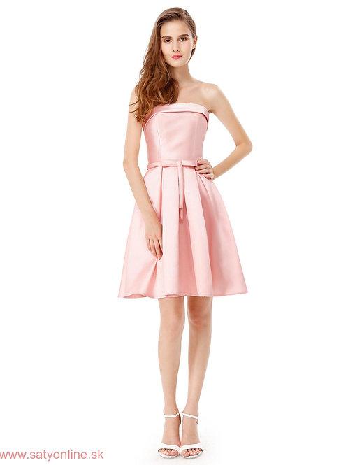 Ružove krátke šaty 5577 SKLADOM