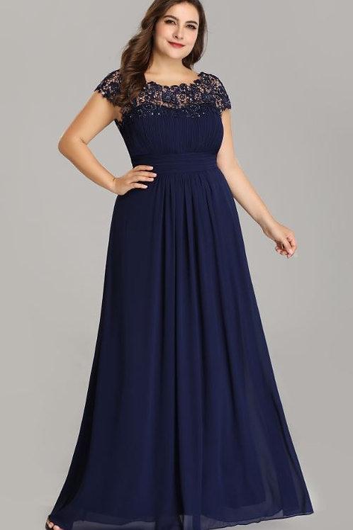 Tmavo modré NAVY spoločenské  šaty 9993