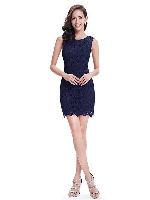 Tmavo modré krajkové šaty 5125