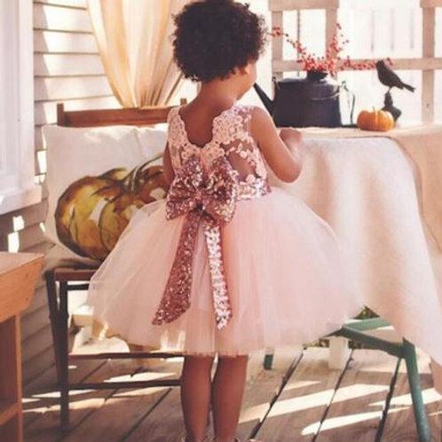 Ružové Krajkové Dievčenské Šaty