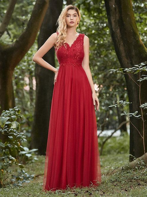 Červene krajkové šaty 0452