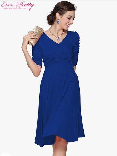 Modré krátke šaty 3632 SKLADOM