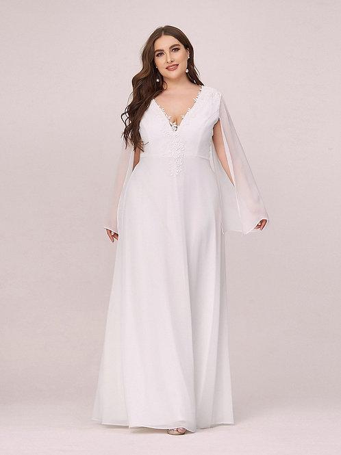 Biele svadobné- spoločenské šaty MOLETKA 7948