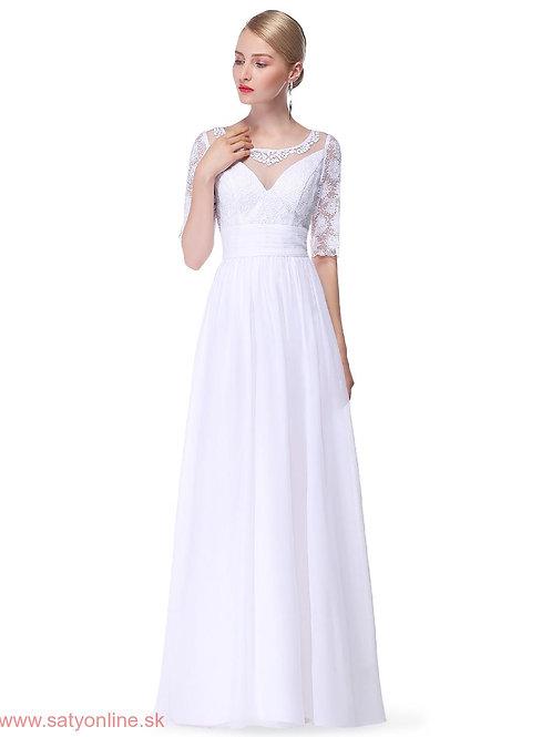 Biele krajkové šaty 8655
