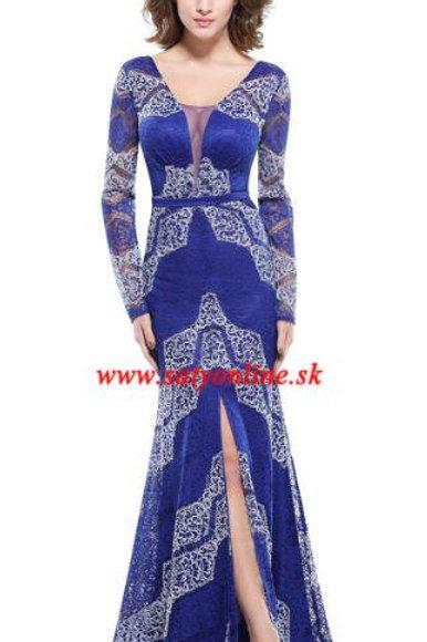 Modré krajkové šaty8826 SKLADOM