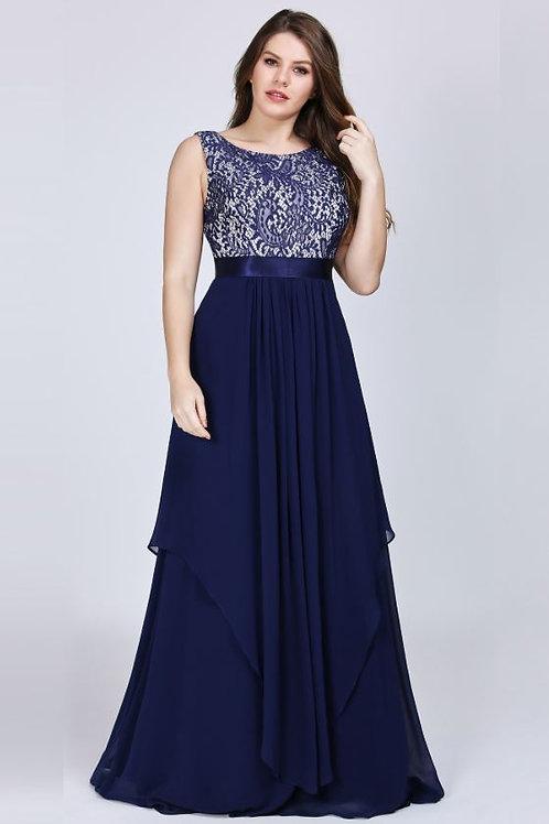 Tmavo modré  krajkové šaty 8217