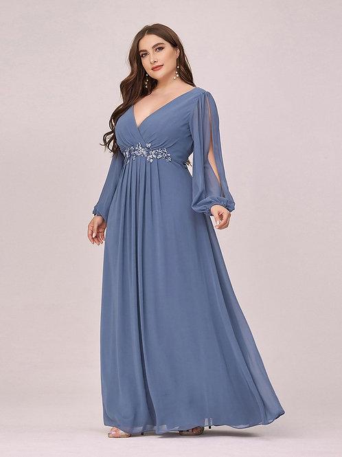 Spoločenské šaty Dusty Blue pre MOLETKY 0461