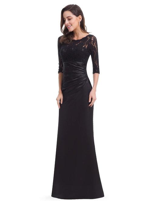 Čierne šaty 9882 SKLADOM