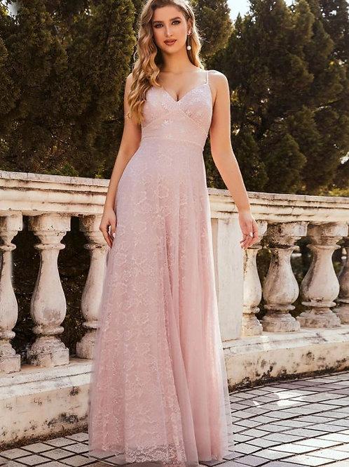 Ružove krajkové šaty 00211
