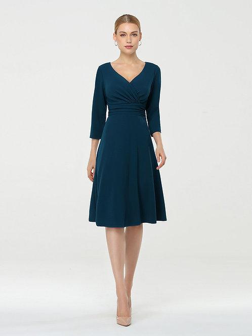 TEAL šaty s rukávom