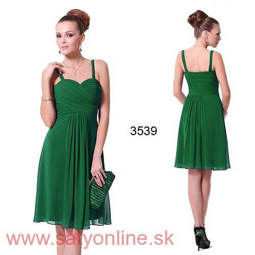 Zelené krátke šaty 3539 SKLADOM