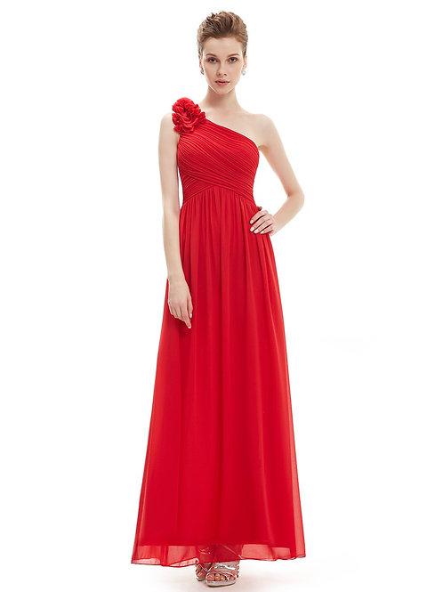 Červené spoločenské šaty 8237 SKLADOM