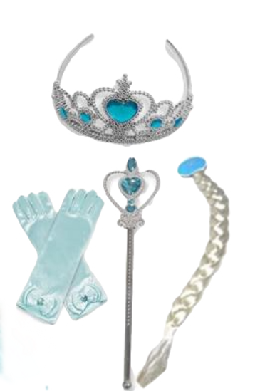 Elsa 2 Doplnky ku karnevalovému kostýmu modra