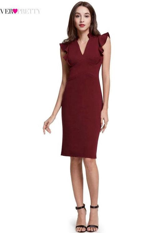 Bordove krátke šaty 5967 SKLADOM