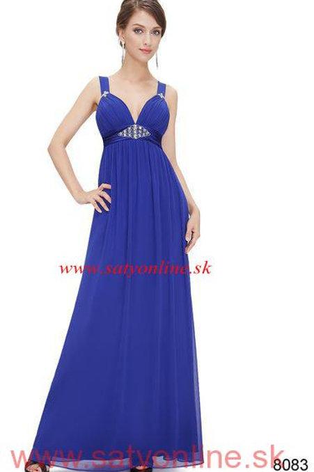 Modré šaty 8083 SKLADOM