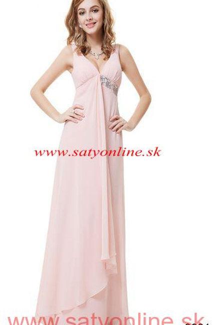 Ružove spoločenské šaty 9981 SKLADOM
