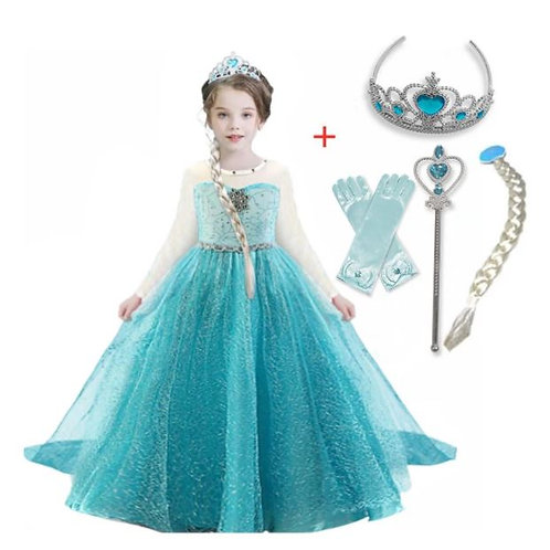 ELSA šaty - Karnevalový kostým princezná Elsa 2+Doplnky