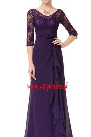 Fialové krajkové šaty 8890 SKLADOM