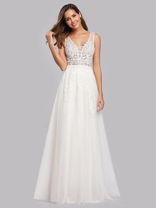 Biele svadobné krajkove šaty 7544 SKLADOM