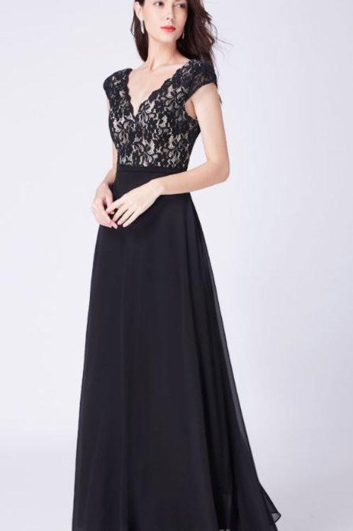 Čierne spoločenské šaty 7344