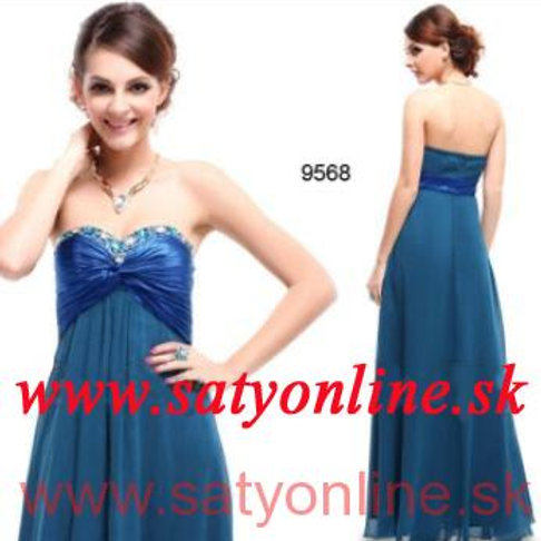 Modré spoločenské šaty 9568 SKLADOM