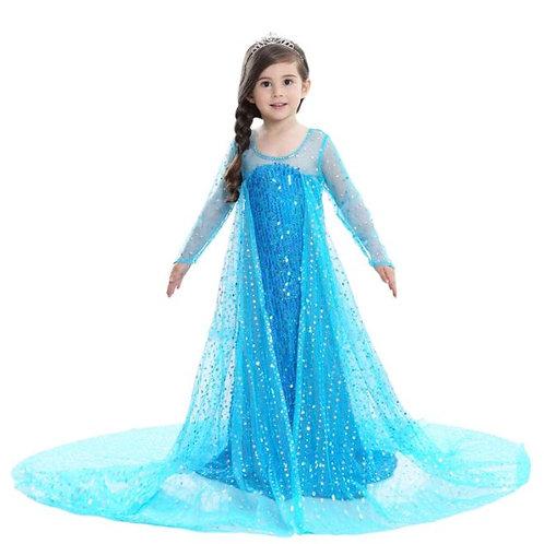 ELSA šaty - Karnevalový kostým princezná Elsa Glitter Blue