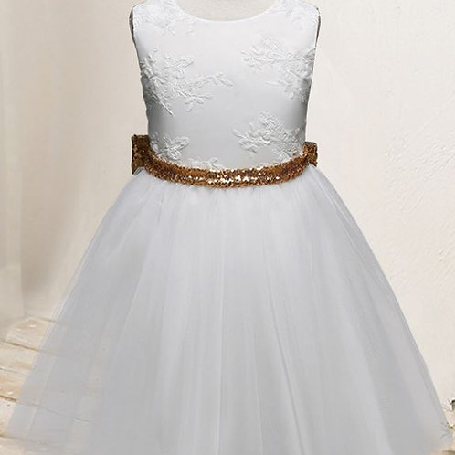 Biele Dievčenské Krajkove šaty SKLADOM